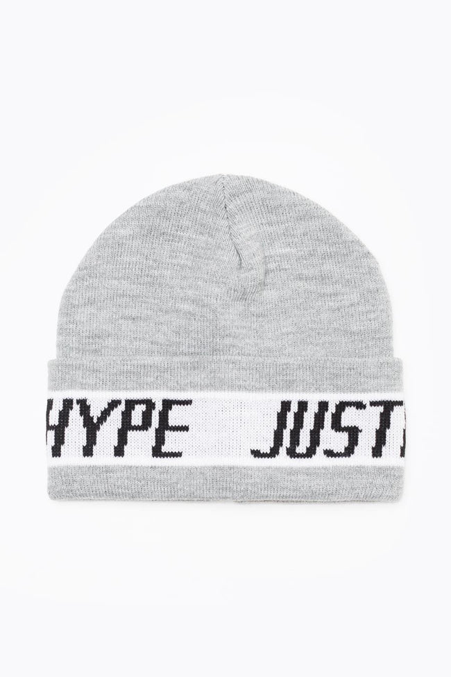 HYPE GREY SPORTING BEANIE