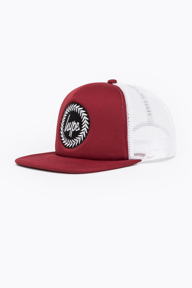 HYPE BURGUNDY CREST TRUCKER HAT