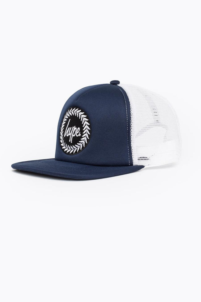 HYPE NAVY CREST TRUCKER HAT