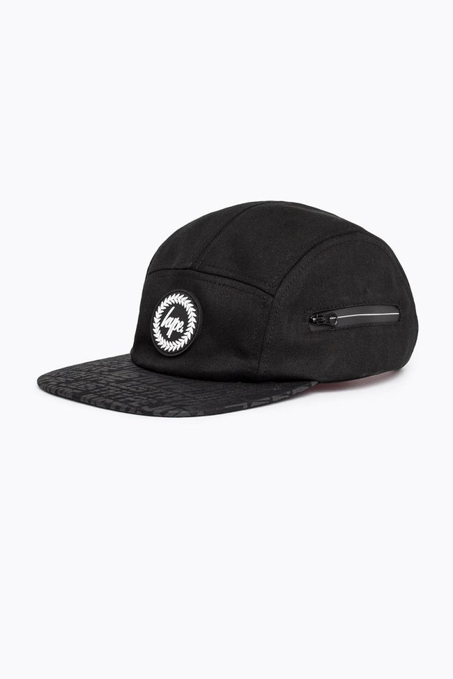 HYPE BLACK POCKET REFLECTIVE 5 PANEL HAT