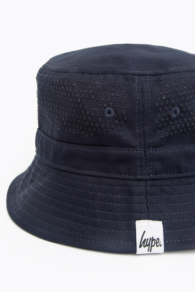 HYPE NAVY LASER POLKA BUCKET HAT