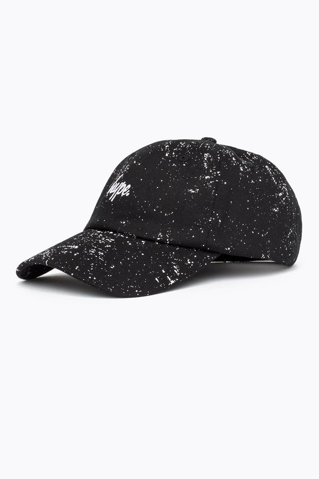 HYPE BLACK SCRIPT SPECKLE DAD HAT