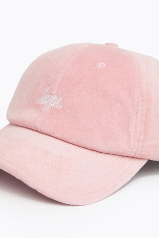 HYPE PINK VELOUR DAD HAT