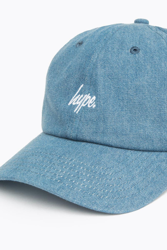 HYPE BLUE DENIM SCRIPT DAD HAT