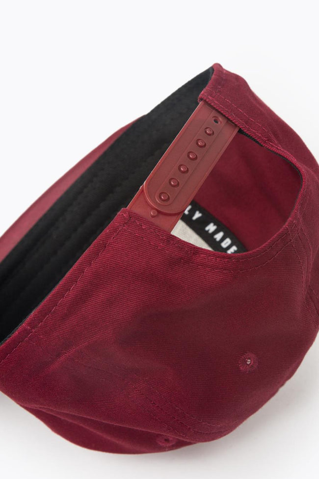 HYPE BURGUNDY INSIGNIA SNAPBACK HAT
