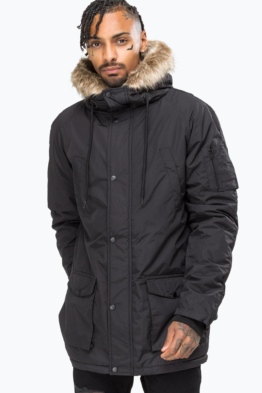 more photos new arrivals to buy HYPE BLACK TRACK MASTER MENS PARKA JACKET
