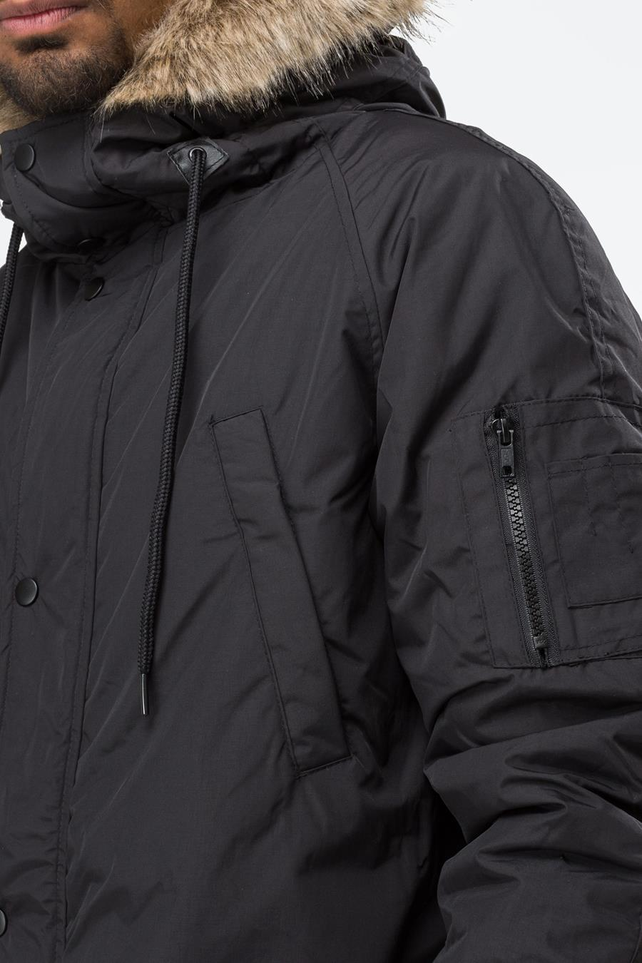 release date 100% high quality fashion HYPE BLACK TRACK MASTER MENS PARKA JACKET   Justhype ltd