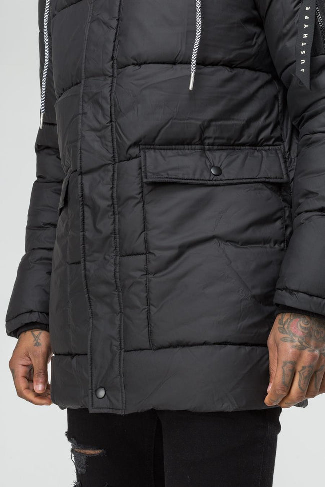 HYPE BLACK EXPLORER MEN'S PARKA JACKET