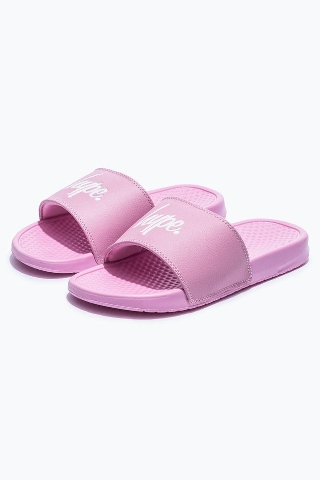 HYPE PINK CORE KIDS SLIDERS
