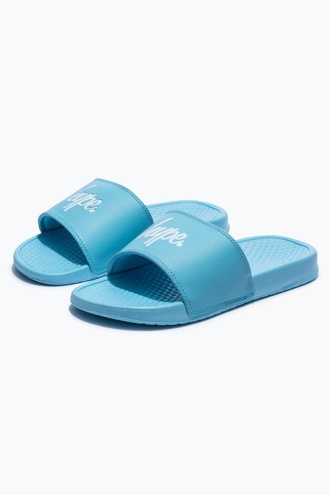 HYPE BABY BLUE CORE KIDS SLIDERS
