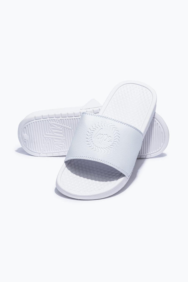 HYPE WHITE CREST KIDS SLIDERS