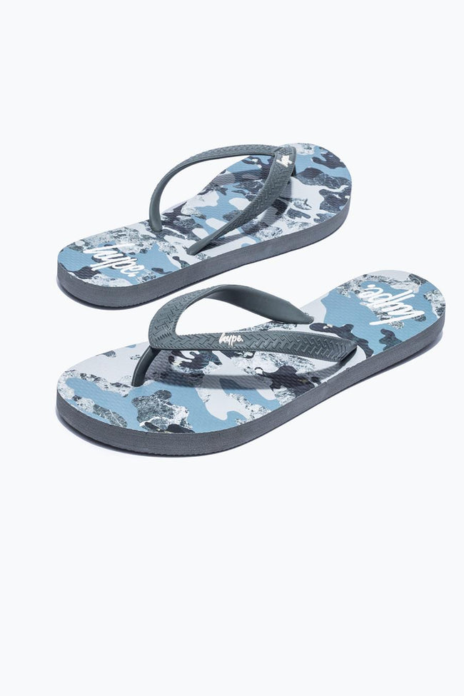 HYPE CAMO ESTATE CAMO KIDS FLIP FLOPS