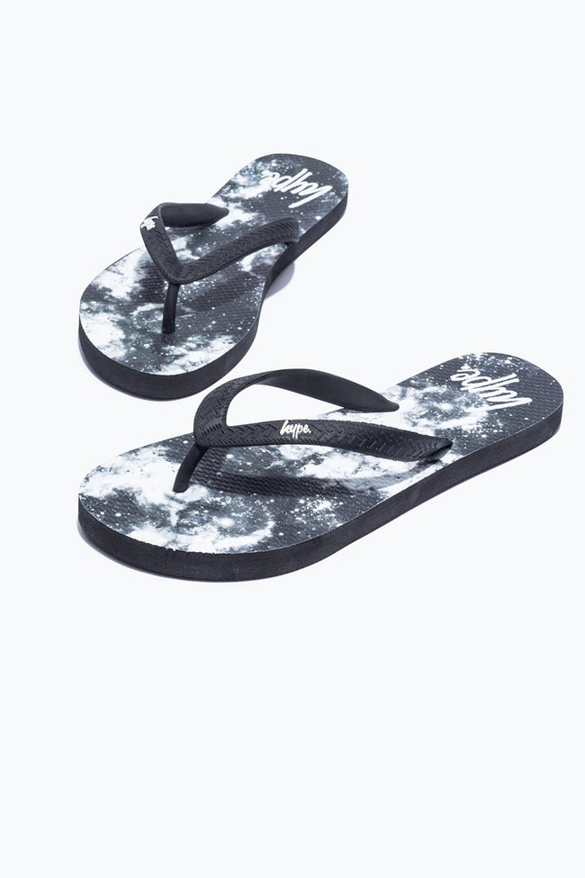 HYPE BLACK MONO SPACE FLIP FLOPS