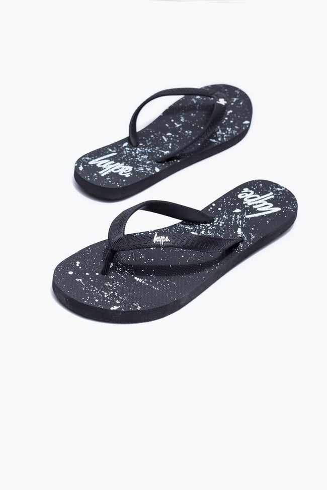 HYPE BLACK SPECKLE KIDS FLIP FLOPS