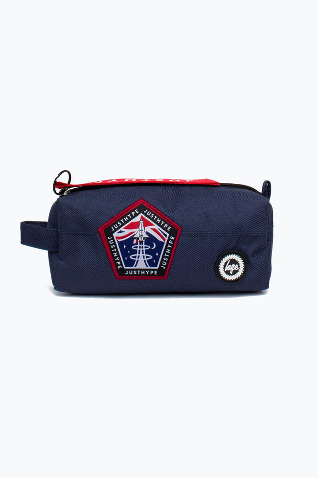 HYPE NAVY SPACE PATCH PENCIL CASE
