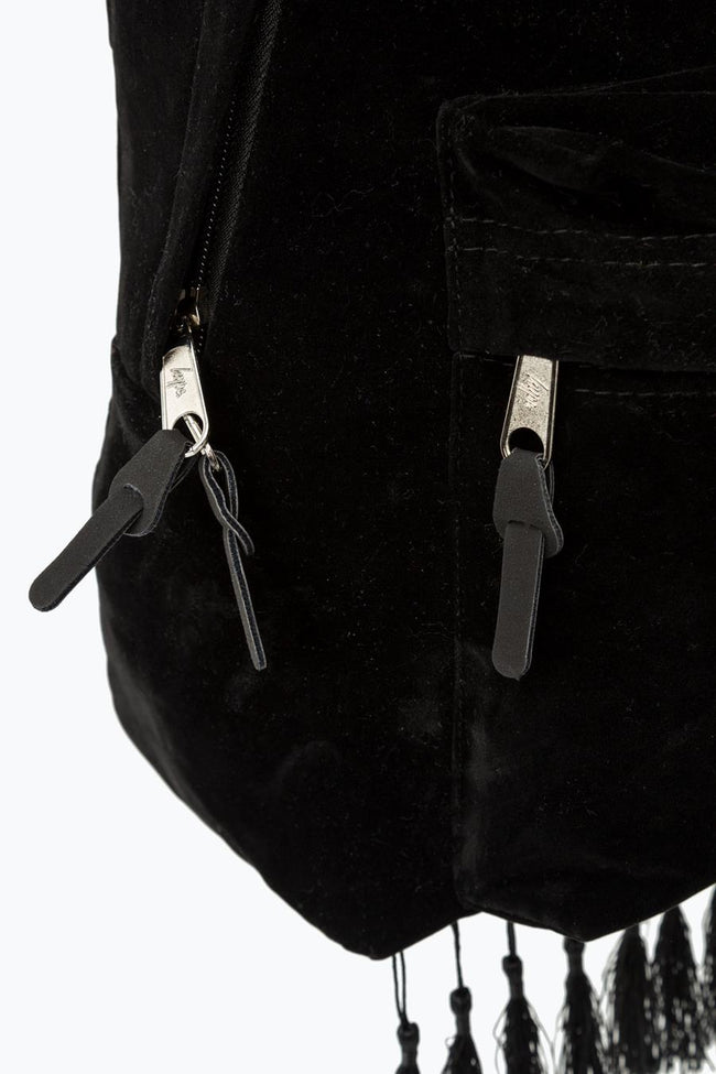 HYPE BLACK TASSEL BACKPACK