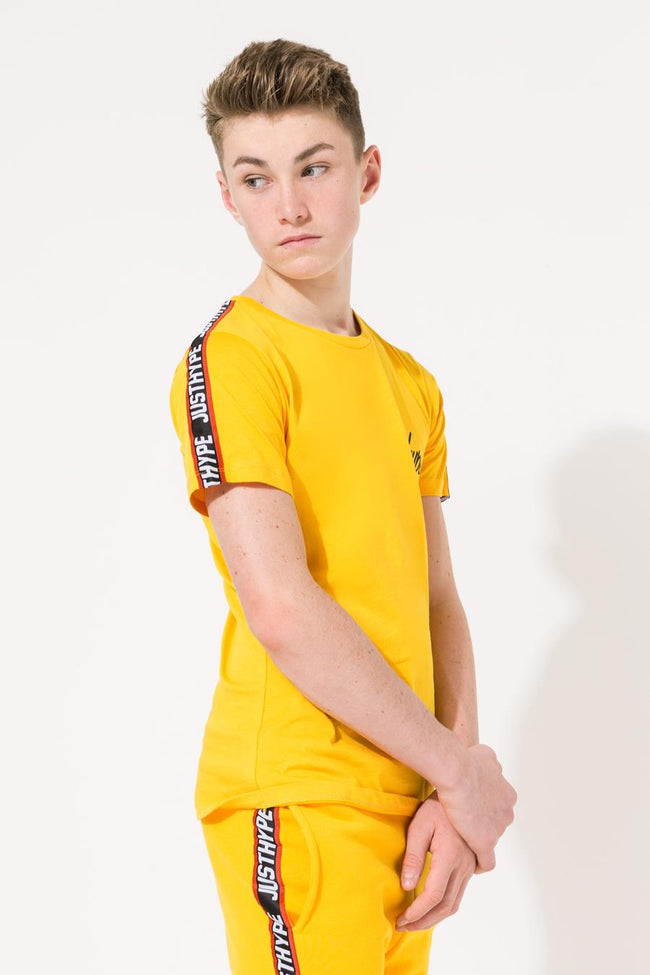 HYPE YELLOW TAPED KIDS T-SHIRT