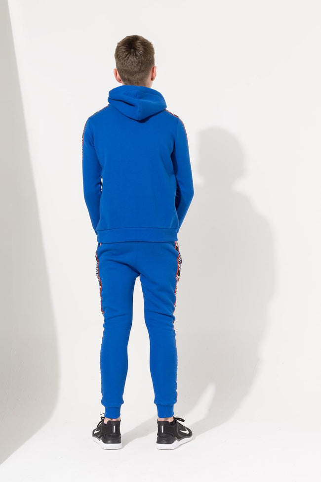HYPE BLUE TAPED KIDS PULLOVER HOODIE