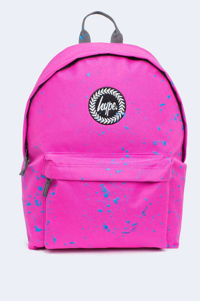 HYPE PINK WITH BLUE SPECKLE BACKPACK