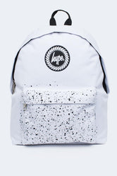 HYPE WHITE WITH BLACK SPECKLE POCKET BACKPACK
