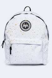 HYPE WHITE WITH METALLIC GOLD SPECKLE BACKPACK