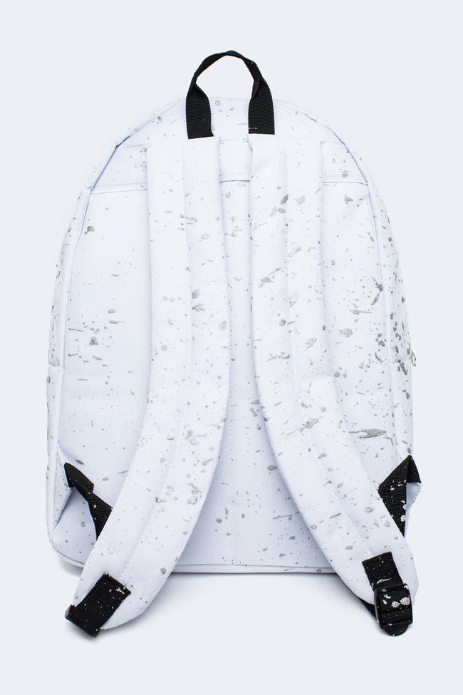 HYPE WHITE WITH METALLIC GREY SPECKLE BACKPACK