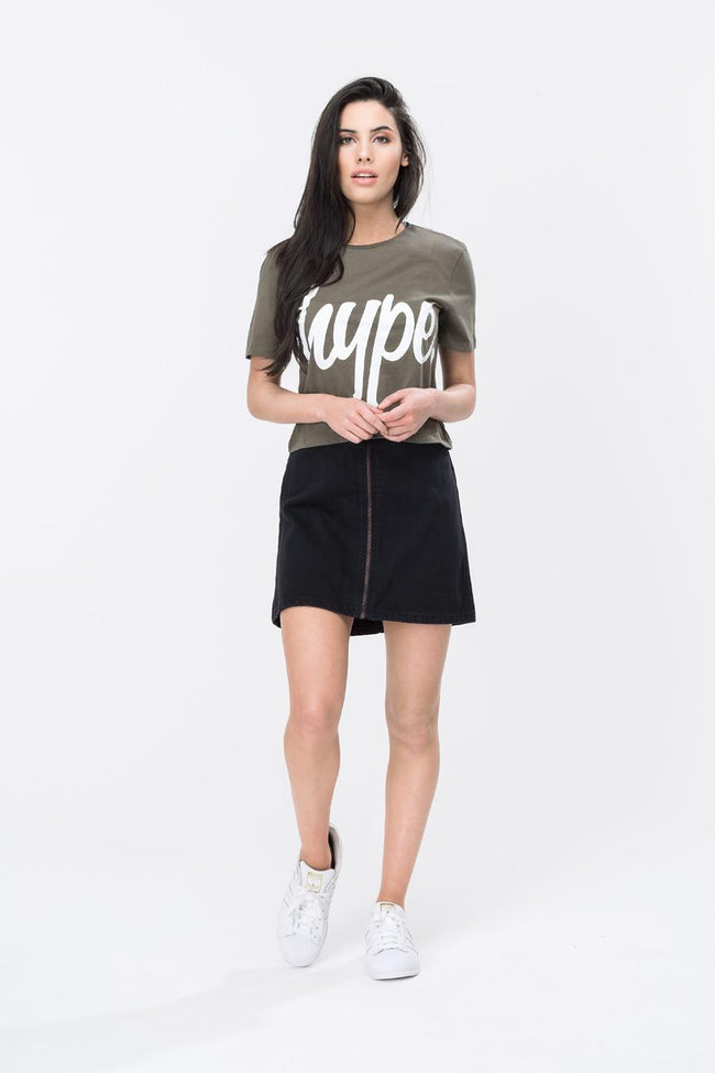 HYPE SCRIPT WOMEN'S CROP T-SHIRT