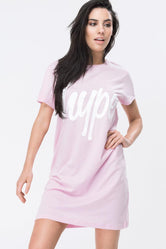 HYPE PINK SCRIPT WOMEN'S T-SHIRT DRESS