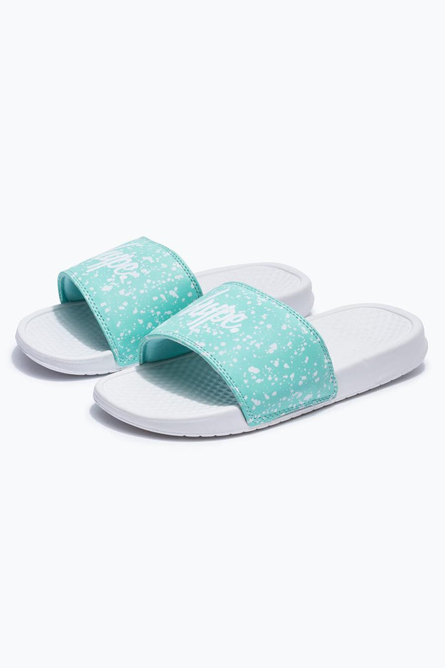 HYPE MINT SPECKLE SLIDERS