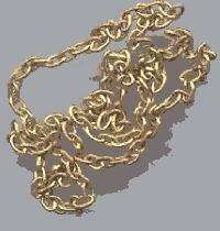 BRASS CHAIN 1'  (1ft)