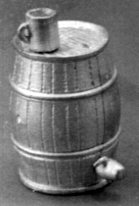 WATER BARREL W/SPIGOT AND A CUP (1 set)