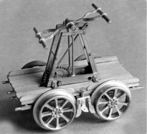 'PUMP' HAND CAR (wood wheels) (kit)