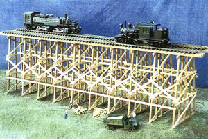 NARROW GAUGE STYLE TRESSLE DOUBLE TRACK 1/2 SCALE
