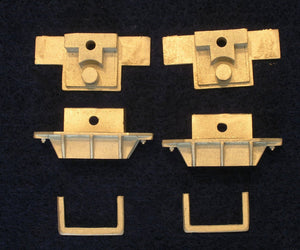DRGW box car coupler set, without couplers