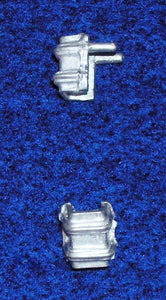 "Stake pockets - 2 bolts for 3 1/2"" stakes  (.154"" square) -  12 per pack"