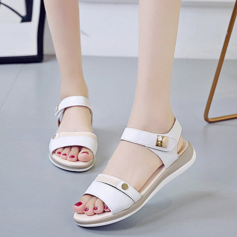 New summer platform women's flat fashion cake bottom student shoes