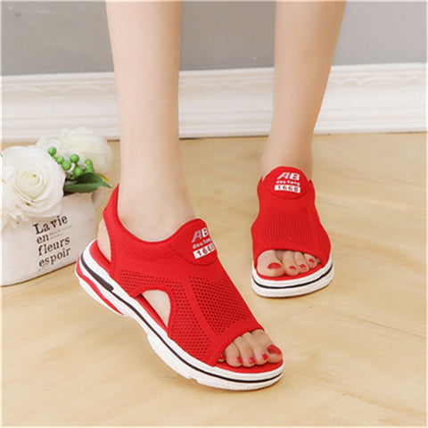 2019 Summer Ladies Black White Flat Sandals Large Female Shoes