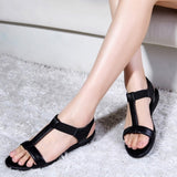 Genuine Leather Sandals Women Flat Heel Sandals Fashion Summer Shoes
