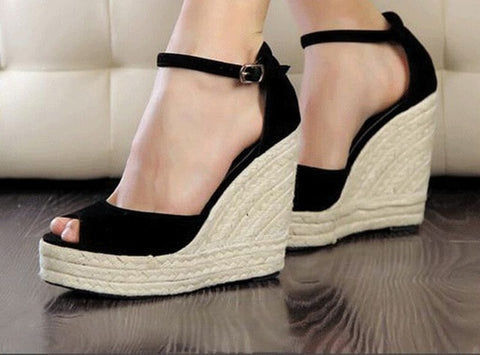 Wedge Sandals Fashion Concise Open Toe Platform High Heels Women Sandals