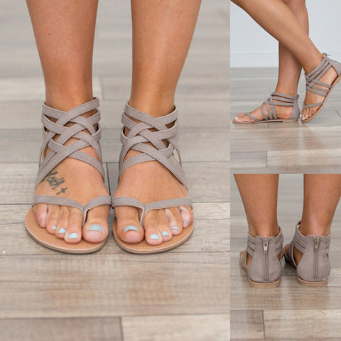 2019 Summer Shoes Women Sandals Flats European Rome Gladiator Sandals