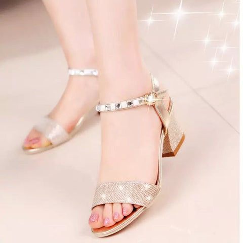 Summer Shoes Woman Sexy High Heels Buckle Open Toe Female Fashion