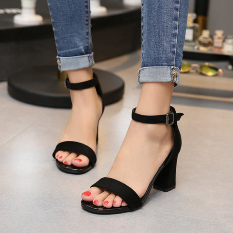 2019 Ankle Strap Heels Women Sandals Summer Shoes