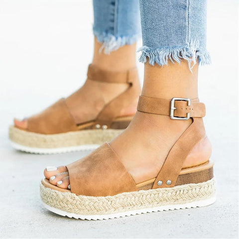 Women sandals 2019 new flip flop platform sandals wedges shoes