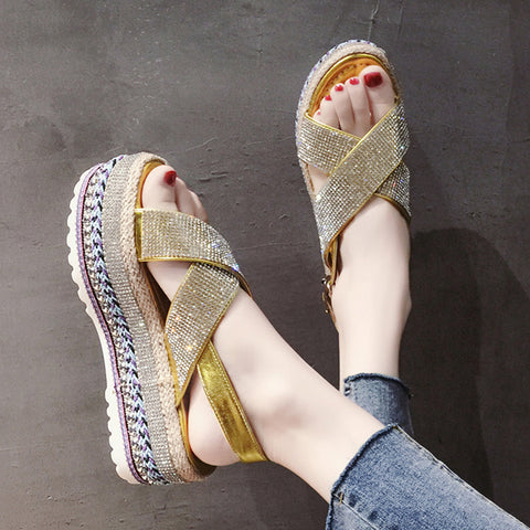 Sexy Open-toed Women Sport Beach Sandals Wedge Hollow Out Women Sandals
