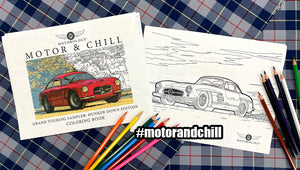 Motor and Chill Coloring: Free Hunker Down Edition