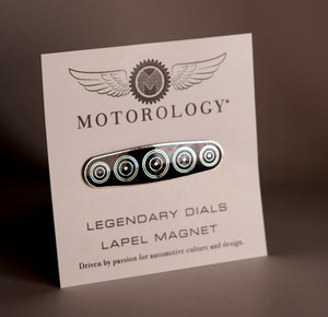 Legendary dials magnetic lapel pin