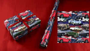 British Cars Wrapping Paper