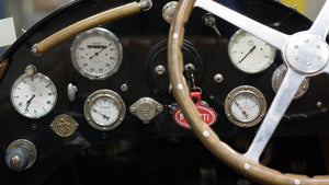 Vintage Bugatti Instrument Panel