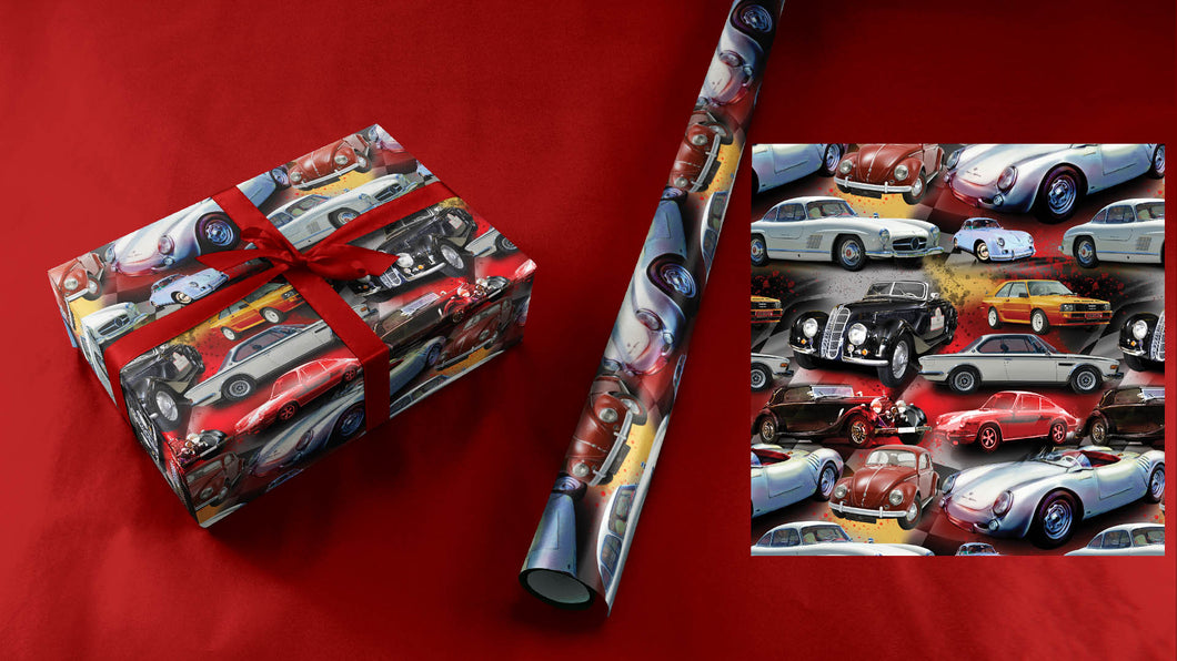 German Cars Wrapping Paper