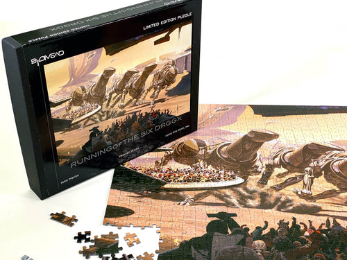 Syd Mead limited edition puzzle: Running of the Six DRGGX